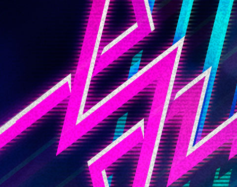 80s wave nightclub logo